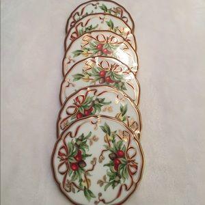 Tiffany & Co. Holiday Coaster Set of 6